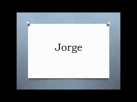 Pronunciation of Some Spanish Names