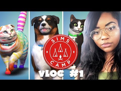 SIMS CAMP 2017 VLOG #1   THE SIMS 4 #SIMSCAMP2017