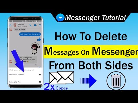 How To Delete Messages On Messenger From Both Sides