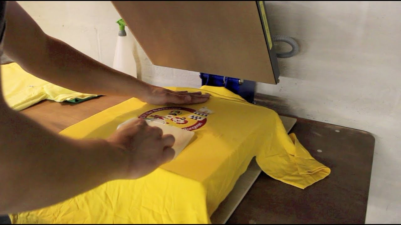 how to use a t shirt press
