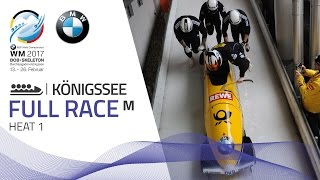 Full Race 4-Man Bobsleigh Heat 1 | KÖnigssee | BMW IBSF World Championships 2017