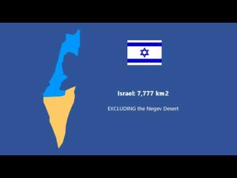 Population Density Of Greater Israel (2019)
