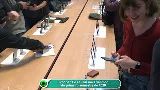 iPhone 11 é celular mais vendido do primeiro semestre de 2020