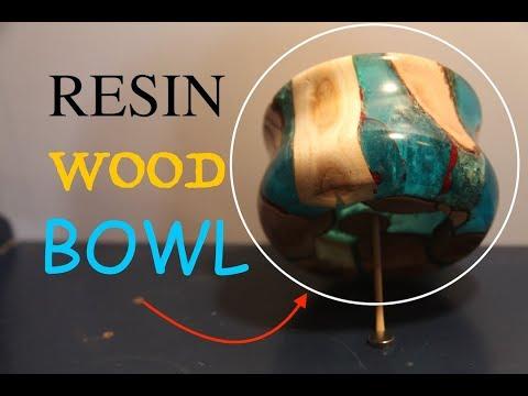 AWESOME RESIN TWISTED WOOD BOWL! | lathe turning.