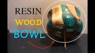AWESOME RESIN TWISTED WOOD BOWL! | lathe turning.