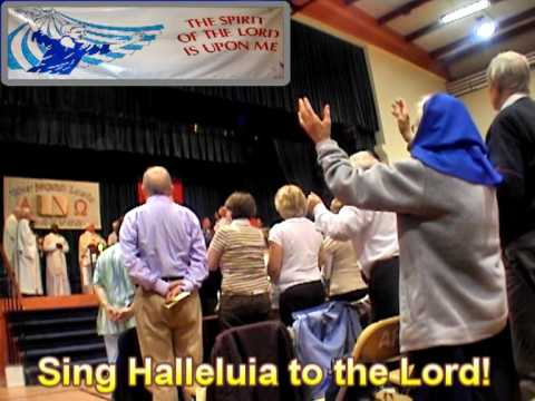 Singing Halleluia to the Lord in Athlone -  Ireland.