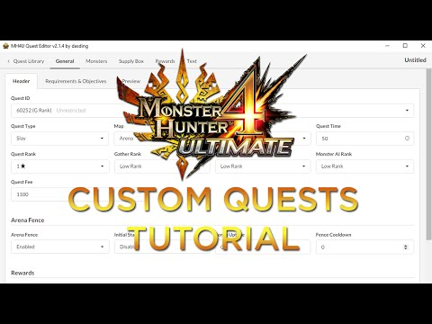 [MH4U] Monster Hunter 4 Ultimate Custom Quest Tutorial