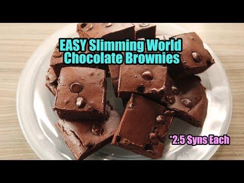 EASY Slimming World Chocolate Brownies -  2.5 SYN EACH