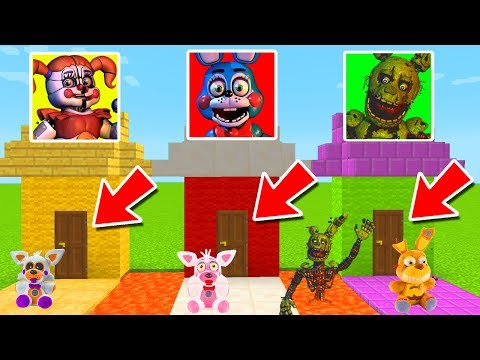 DO NOT CHOOSE THE WRONG SECRET BASE IN MINECRAFT PE! (Five Nights at Freddy's) thumbnail
