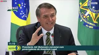 Os destaques da resposta de Bolsonaro e governadores à crise na Amazônia