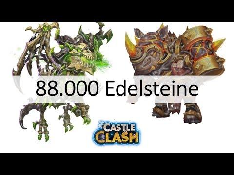 CC #194 88.000 Gems für Skeletica & Rockno by Hunted Schloss Konflikt | Castle Clash