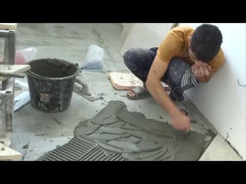 Как выложить плитку на пол ровно лёгкий способ и без маяков.