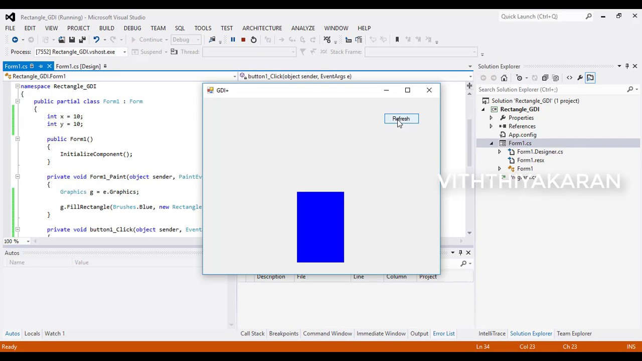 How To Use Paint And The C Graphics Class To Draw Rectangle Tamil