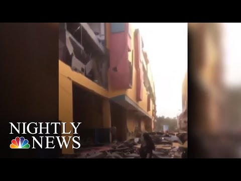Tsunami Hits Indonesian Island After Massive 7.5 Earthquake | NBC Nightly News