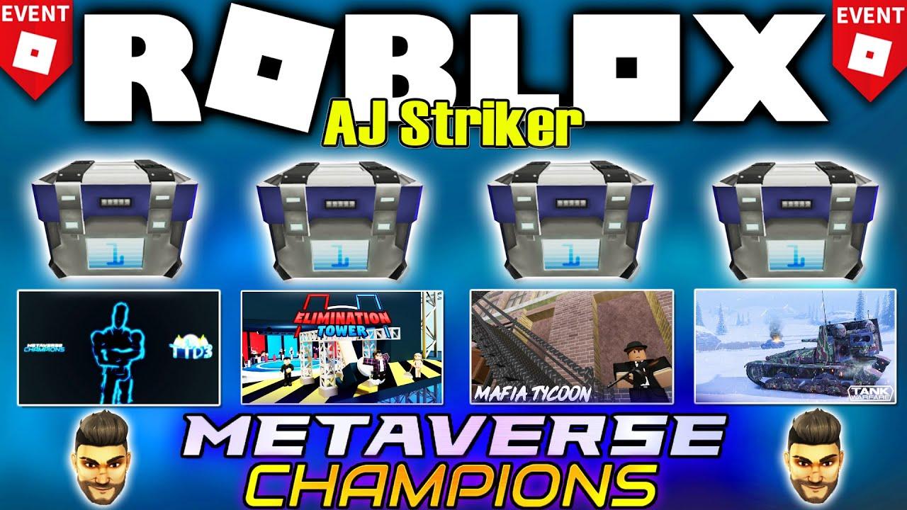 Download [MUY FÁCIL] 🔥 4 PREMIOS de AJ STRIKER! *Evento* ROBLOX METAVERSE CHAMPIONS