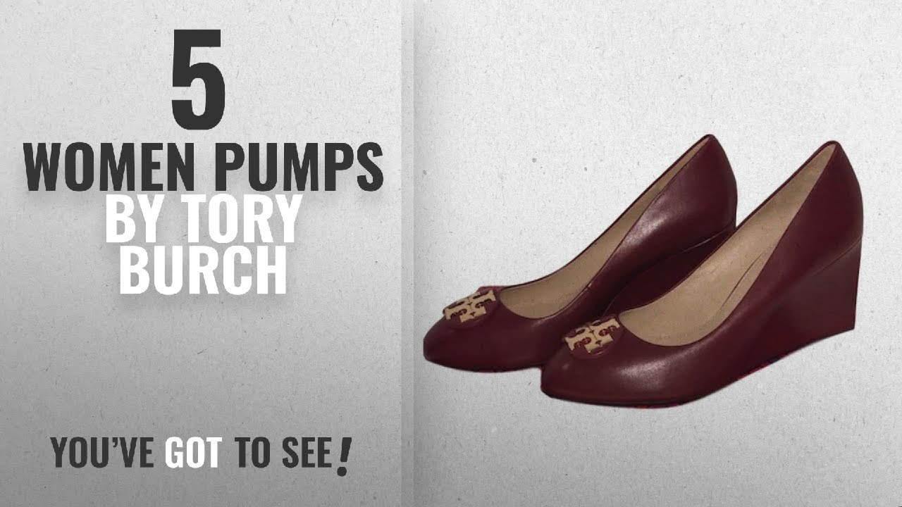 6d816f67c Top 5 Tory Burch Women Pumps  2018   Tory Burch Luna 85mm Wedge Leather  Shoes (8.5