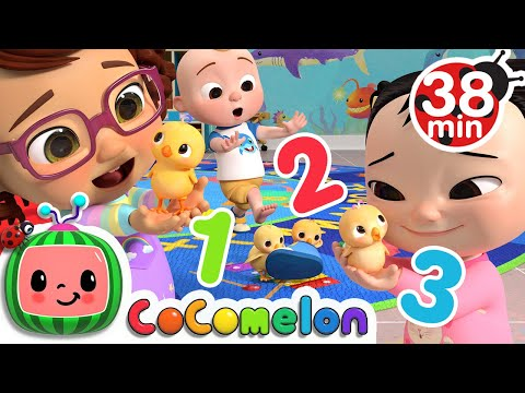 Numbers Song With Little Chicks + More Nursery Rhymes & Kids Songs - CoComelon
