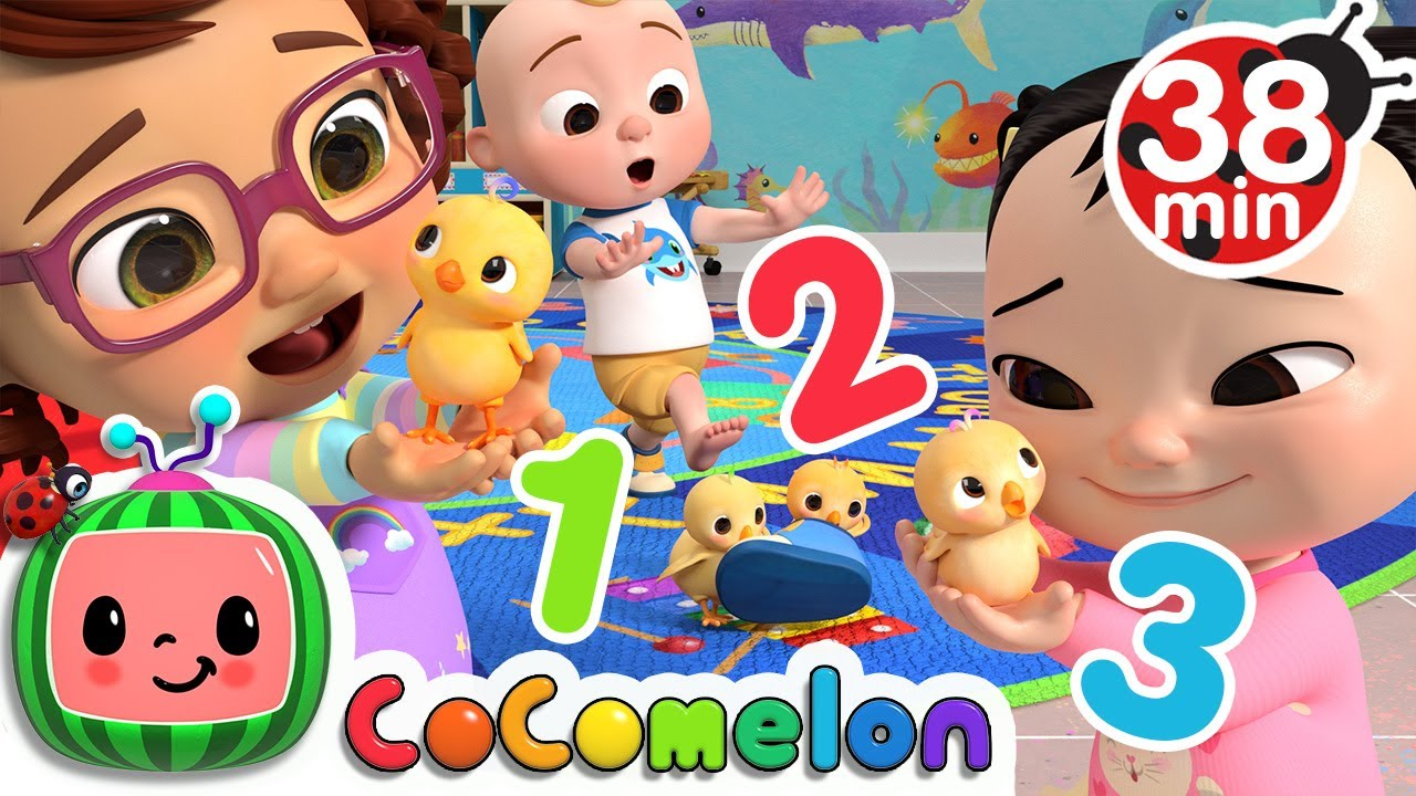 Numbers Song With Little Chicks More Nursery Rhymes Kids Songs Cocomelon Youtube