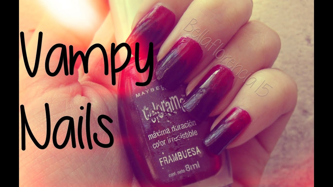 Uñas degrade (rojo y negro) | Vampy ombre nails - YouTube