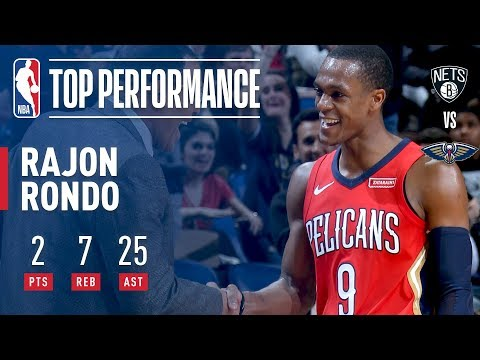 Rajon Rondo Dishes a CAREER-HIGH 25 Assists vs. Nets   December 27, 2017
