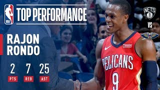 Rajon Rondo Dishes a CAREER-HIGH 25 Assists vs. Nets | December 27, 2017
