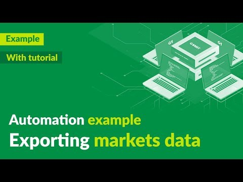 Exporting markets data (from web to Excel) - automation demo + tutorial - G1ANT thumbnail