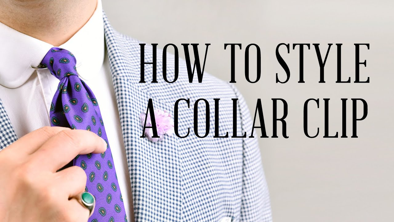 How To Style Wear A Collar Clip Bar Pin 6 Ways Youtube