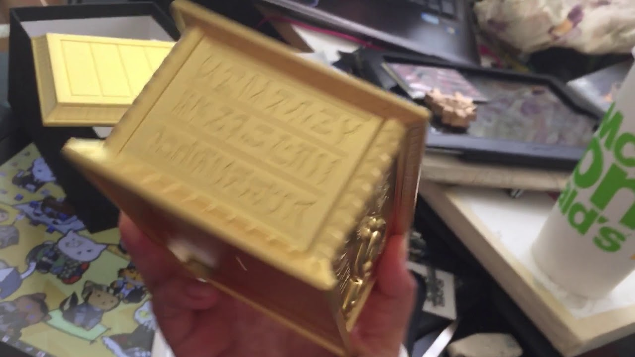 Unboxing the millennium box? (Gold sarcophagus)