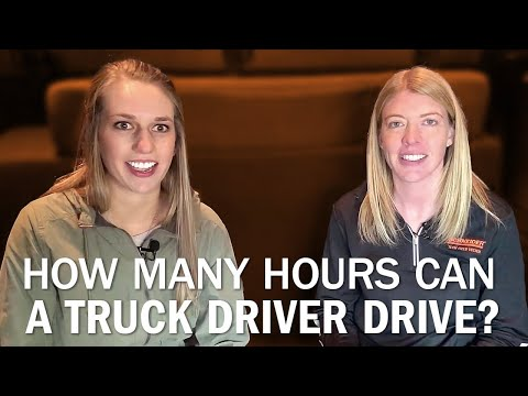 How Many Hours Can A Truck Driver Drive?