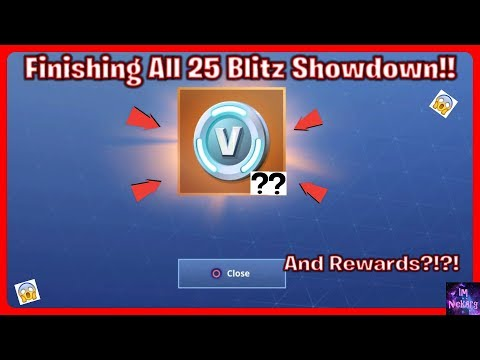 What Happens When You FINISH All 25 Matches of *Blitz Showdown* & Rewards?   Fortnite Battle Royale