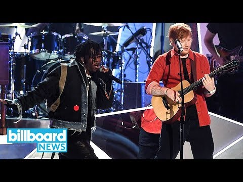 Ed Sheeran & Lil Uzi Vert Perform 'Shape of You' & 'XO Tour Lif3' at 2017 MTV VMAs | Billboard News