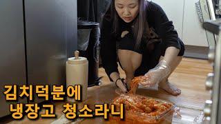 리얼육아:) 김치먹다 냉장고 청소 (6개월 쌍둥이 육아…