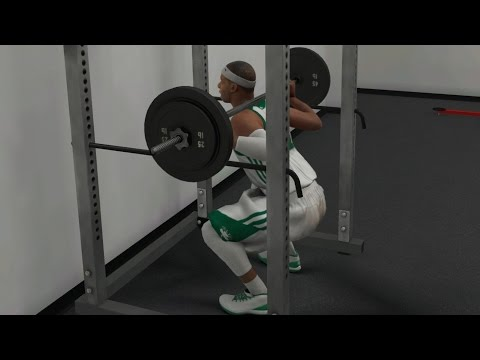 NBA 2K17 PS4 My Career - Squats and Bench Press!