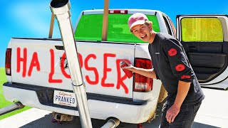 10 WAYS TO PRANK OUR BROTHERS CAR! *FUNNY*