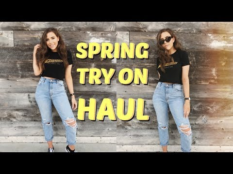 Spring Try On Haul   American Eagle & Brandy Melville