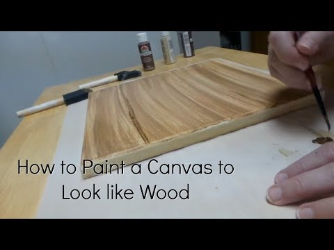 How to Paint a Canvas to Look Like Wood DIY Faux Wood Canvas Painting