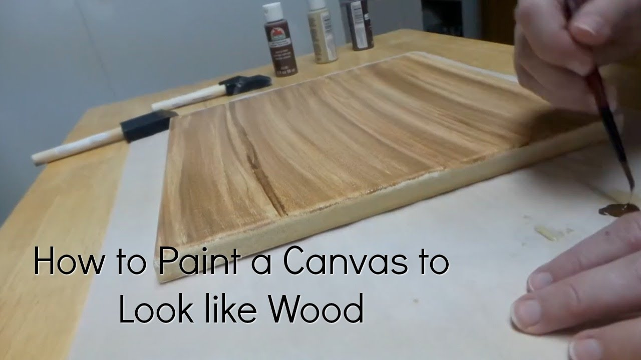 How To Paint A Canvas To Look Like Wood Diy Faux Wood