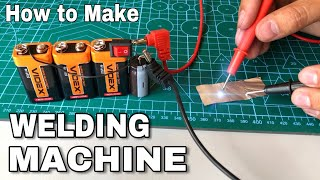 How to Make a Mini Spot Welding using 9V batteries and Capacitor
