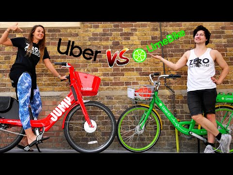 UBER JUMP E-BIKE REVIEW VS LIME ELECTRIC BIKES (LONDON)