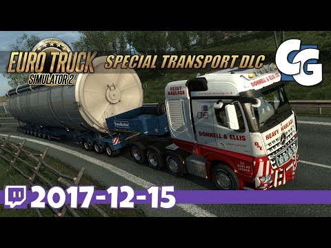 ETS2 - VOD - 2017-12-15 - Go Big (Stars) or Go Home - ETS2 Special Transport DLC Gameplay