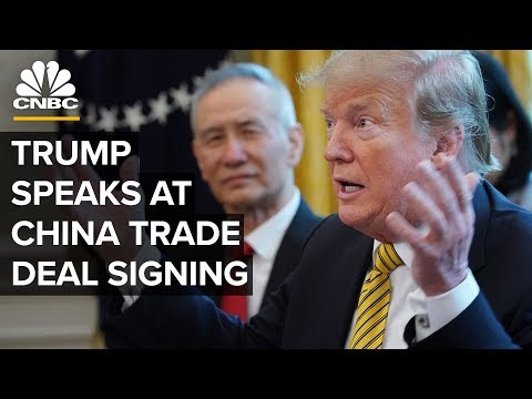 President Trump speaks at the China phase one trade deal signing – 1/15/2020