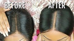 Fake Scalp Method   How To Hide The Lace/Grides On Lace Frontal Wig   No Bleaching   Hot Beauty Hair