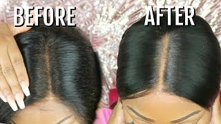 Fake Scalp Method | How To Hide The Lace/Grides On Lace Frontal Wig | No Bleaching | Hot Beauty Hair