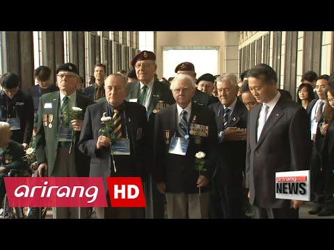 Korean War veterans and their families visit Korea