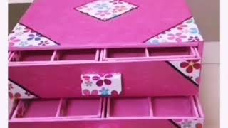Handmade Jewellery Box|earrings Box|diy|with secret rack