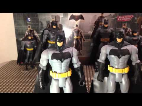 DC Comics Super Hero Showdown Batman 5 Pack Action Figure Review Batman V Superman JLU Total Heroes