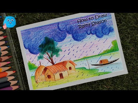 rainy-season-scenery-drawing-for-beginners-in-pencil-colors-step-by-step