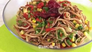 Gün Masalarının En Beğenileni Erişte Salatası Tarifi | tadimiztuzumuz