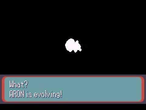 Pokemon Sapphire - Aron Evolves into Lairon - YouTube
