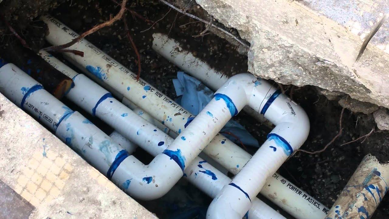Pool pipe leak repair  YouTube